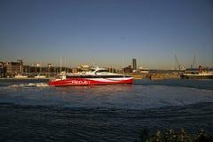Ville rouge Quay de Southmapton du jet 6 Image libre de droits