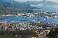 Ville Sanya China de secteur Images libres de droits