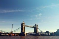 Ville Scape de pont de tour de Londres Photos stock