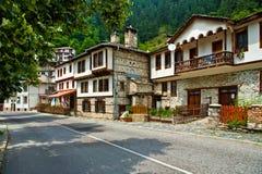Ville Shiroka Laka (Lika) en Bulgarie Photographie stock libre de droits