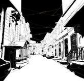Ville sketch01 Image libre de droits
