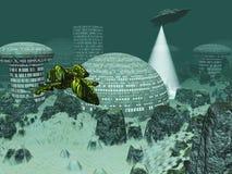 Ville sous-marine Images stock
