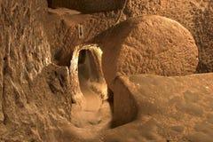 Ville souterraine d'Ozkonak Images libres de droits