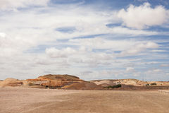 Ville souterraine dans le désert Photo stock