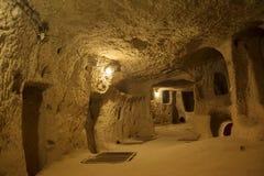 Ville souterraine de Kaymakli Images libres de droits