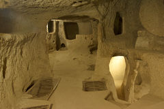 Ville souterraine de Kaymakli Photos libres de droits