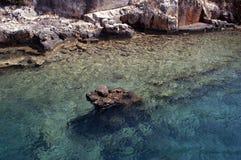 Ville submergée, Kekova, Turquie, scène 9 Image stock