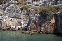 Ville submergée, Kekova, Turquie, scène 3 Image libre de droits