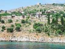 Ville sur la côte d'Antalya images libres de droits