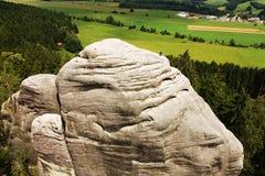 Ville tchèque de roche Photos libres de droits