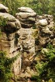 Ville tchèque de roche Photo libre de droits