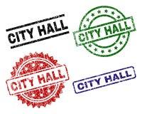 VILLE texturisée grunge HALL Seal Stamps Illustration Libre de Droits
