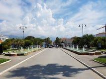 Ville toscane pendant l'été Image libre de droits