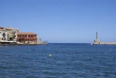 Ville traditionnelle de Chania chez Crète Photos stock