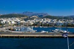 Ville traditionnelle de Rethymno chez Crète images stock