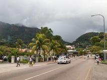 Ville tropicale de rue de Victoria Images stock