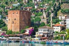 Ville turque d'Alanya image libre de droits