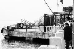 Ville turque nostalgique de pêche et d'été Photo stock