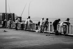 Ville turque nostalgique de pêche et d'été Photographie stock libre de droits