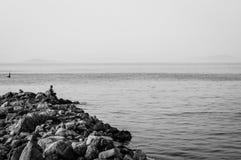 Ville turque nostalgique de pêche et d'été Photos libres de droits