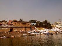 Ville Varanasi, Inde de temples Photographie stock libre de droits