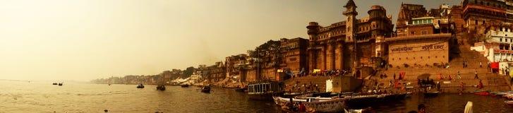 Ville Varanasi, Inde de temples Photographie stock