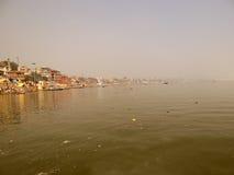 Ville Varanasi, Inde de temples Photos libres de droits