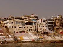 Ville Varanasi, Inde de temples Image libre de droits