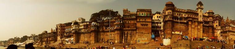Ville Varanasi, Inde de temples Image stock