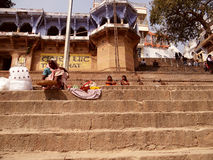 Ville Varanasi, Inde de temples Photo stock
