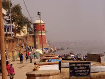 Ville Varanasi, Inde de temples Photo libre de droits