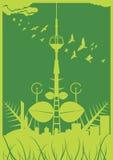 Ville verte Images libres de droits