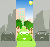 Ville verte désirée Image libre de droits