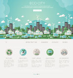 Ville verte d'eco et architecture viable illustration stock