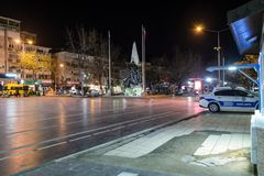 Ville vide d'été la nuit hiver - Turquie Image stock