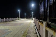 Ville vide d'été la nuit hiver - Turquie Image libre de droits