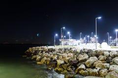 Ville vide d'été la nuit hiver - Turquie Photo stock