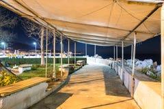Ville vide d'été la nuit hiver - Turquie Photos libres de droits