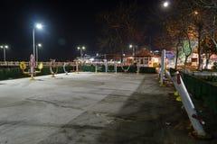 Ville vide d'été la nuit hiver - Turquie Images stock