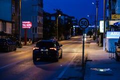 Ville vide d'été la nuit - Turquie Photographie stock