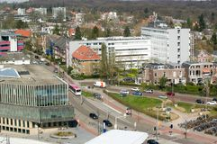 Ville, vue d'en haut, Arnhem, Pays-Bas Photographie stock libre de droits