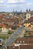 Ville Wurtzbourg Allemagne de vue Images libres de droits