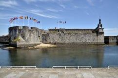 Ville Zakończenie Concarneau w Francja Zdjęcia Royalty Free