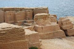 Villebråden av locket Baou Tailla nära La Couronne, Frankrike Royaltyfri Fotografi