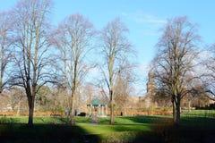 Villebrådet parkerar i Shrewsbury, England royaltyfri foto