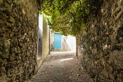 Villebrequin-Straße in Zobel d La Chaume Les ` Olonne, Frankreich lizenzfreies stockfoto