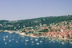 Villefranche auf dem Taubenschlag d'Azur Stockbilder