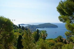 Villefranche blue Royalty Free Stock Images