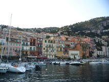 Villefranche, building. Boats and houses in Villefranche, france Stock Photo