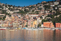 Villefranche on the Cote d'Azur royalty free stock photo